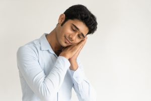 guy pretending to sleep - Types of sleeping disorder