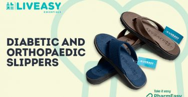 LivEasy Essential Diabetic & Orthopedic Slipper - Freedom From Diabetes-Induced Foot Pain! - PharmEasy