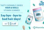 Power Gummies Hair Vitamins With Biotin Multivitamin: The Secret To Strong Shiny Hair! - PharmEasy